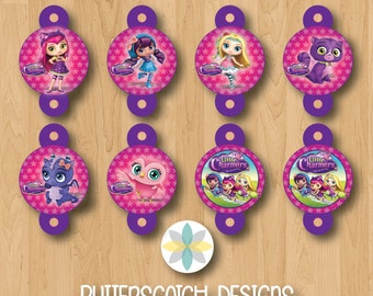 Little Charmers Birthday Straw Toppers - INSTANT DOWNLOAD