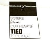 sister / sister gift / sister bracelet / valentines day gift / gifts for sister / silver bow bracelet / sister jewelry / sister in law gift