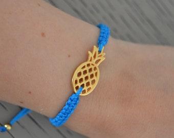 Summer Bracelet - Pinapple Bracelet - Beachwear Bracelet - Neon Pink Bracelets