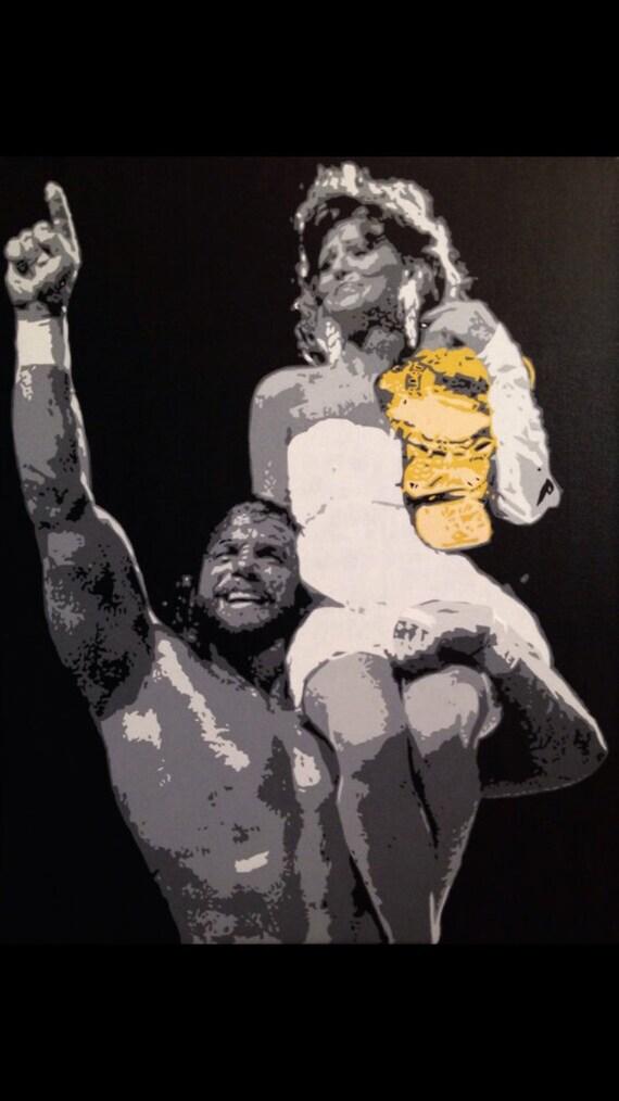 "Macho Man Randy Savage Custom Pop Art Painting 30""40"" Canvas"