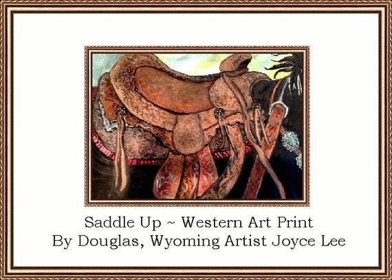 Saddle Up  Western Art Print