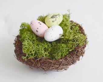 Bird Nest Cake Topper, woodland centerpiece, woodland cake topper, nest and eggs, wedding cake topper, eater decoration, woodland wedding