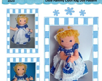 "Cloth Rag Doll PDF Pattern Little Pammy 16"" Rag Doll Pattern- Easy Beginner PDF Sewing Patterns by Peekaboo Porch"