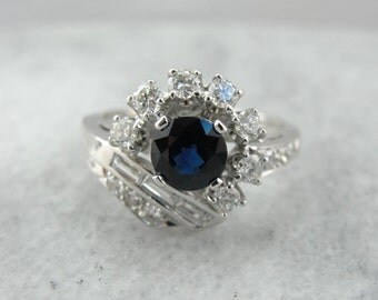 Spectacular Sapphire and Diamond Statement Ring VKM3QW-D