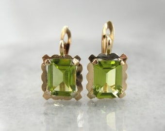 Pretty Peridot Drop Earrings EMPYW4-D