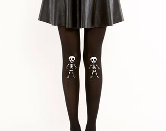 Cute skeleton tights/ Halloween tights / Goth tights pantyhose