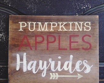 Fall Sign, Rustic Sign, Wood Sign, Fall Decor, Rustic Fall Decor, Custom Sign, Custom Wooden Sign, Home Decor, Wall Decor, Wedding Sign