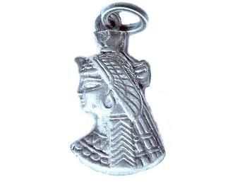 800 Silver Horus Charm - Vintage Egypt Tourist Charm - Egyptian Revival