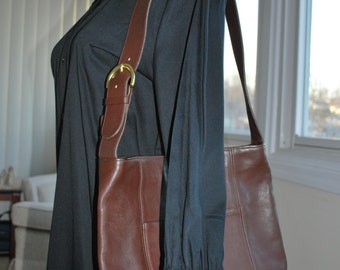 COACH bucket bag - brown leather - shoulder or cross body  F7C-4169