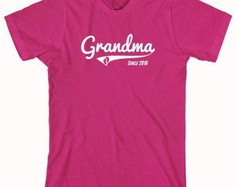 Grandma Since 2016 shirt, new grandma, new baby, gift for mom - ID: 789