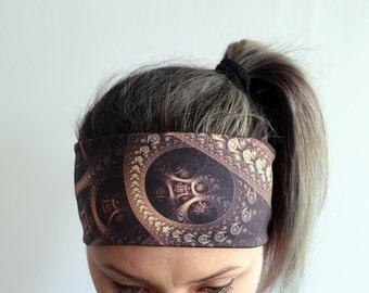Yoga Headband - Workout Headband - Fitness Headband - Running Headband Boho Headband - Elastic Headband - Mandala Headband Y57