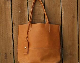 Goleta Tote - Leather Tote / Handmade leather Tote Bag / Leather purse