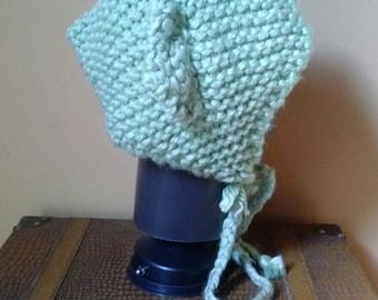 Yoda Inspired Knit Adult Bonnet