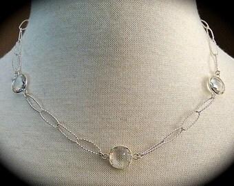 Crystal & Silver Necklace