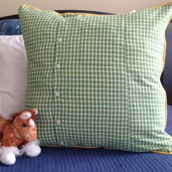 green plaid pillow cover 20 x 20 inch kid pillow cover green. Black Bedroom Furniture Sets. Home Design Ideas