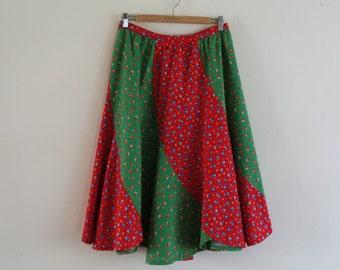 Vintage 1970's Floral Summer Skirt