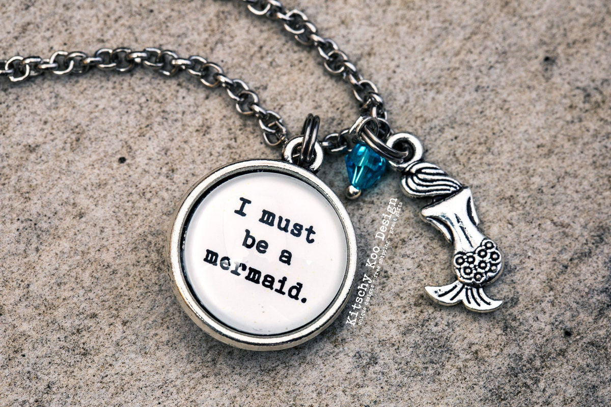 FREE SHIPPING Anaïs Nin I Must Be A Mermaid Quote