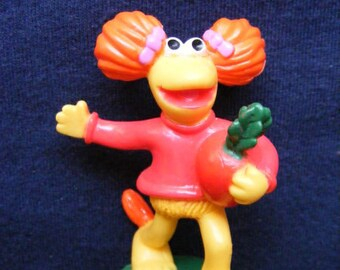Fraggle Rock, Red Fraggle Figure, McDonald's, Fast Food Toy, Vintage Fast Food Toys, 1988