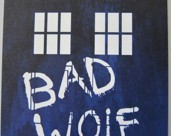 Doctor Who - Bad Wolf Postcard