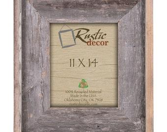11x14 premium 4 wide rustic reclaimed barn wood wall frame
