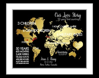 Wedding Anniversary Gifts Unique Engagement by Printsinspired