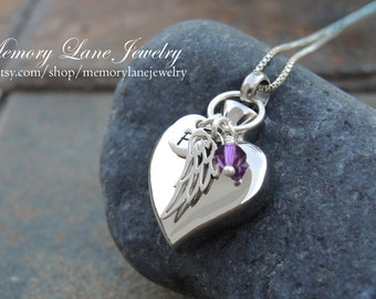 My Angel, My Heart - Urn Necklace Jewelry - Cremation Necklace Jewelry - Ashes - Memorial Jewelry - Pet loss - Loss of a loved one