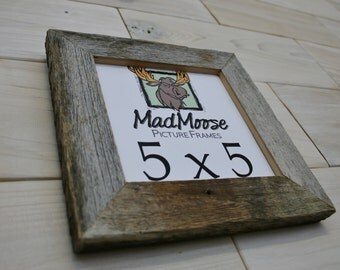 "5x5 BarnWood [Thin x 1.25""] Picture Frame"