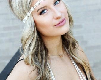 Bridal Headband - Pearl Headband - Rhinestone Headband - Flower Girl Headband - Bridal Headband - Wedding Headband - Headands for Women