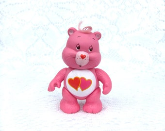 Vintage Care Bears Love-A-Lot Bear Posable Figurine