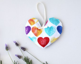 Lavender Sachet Heart. Organic Lavender filled Sachet for Lingerie Drawer, Natural Air Fresherner, Bridal Gift, Gift for her