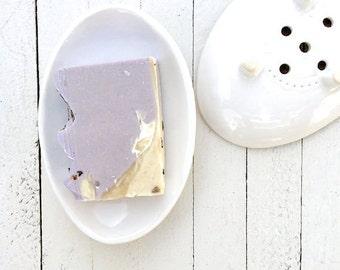 Ceramic, Soap Holder, Sponge Holder, Soap Dish Drain, Bathroom, Handmade, Decoration,