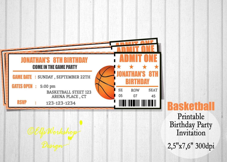 Préférence Invito di basket basket biglietto invito biglietti invito HS23