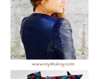 Strip Twister - usamimi - hairband - headband - multi-coloured headband