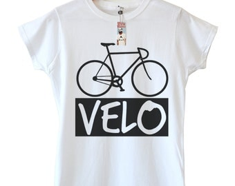 Women's Bike T-shirt, Available in 4 colours, In sizes S,M,L And XL