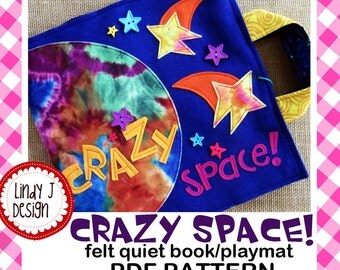 Crazy Space QUIET BOOK Playmat .PDF Pattern