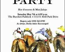 Kentucky Derby  Party Invitation, Run for the Roses Invitation, Horse Race Invitations, Invitation by Oddballs, Kentucky Derby
