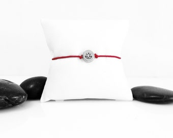 Lotus Flower Sterling Silver Bracelet, Lotus Charm, Lotus Bracelet, Lotus Jewelry, Silver Lotus, Lotus Flower Bracelet, JIB247CSS