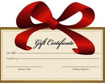Gift Certificate for Handmade Pottery