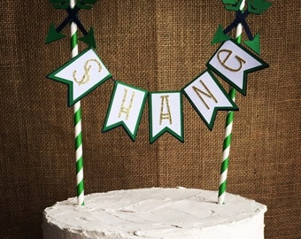 aztec cake topper, name cake topper, arrow cake topper, boho cake topper, tribal cake topper, camping cake topper, arrow, aztec, boho chic