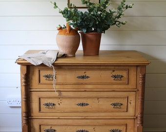 Now Sold******Fabulous Continental Antique Pine Chest Of Drawers - Super Substantial Condition