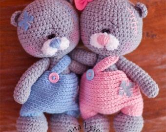 Crochet pattern Teddy Bears in Pants