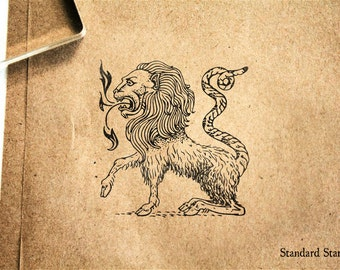 Chimera Rubber Stamp - 2 x 2 inches