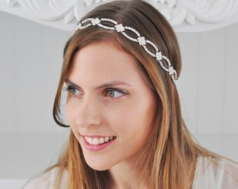 BRIDAL SWAROVSKI HEADBAND, Wedding Headpiece