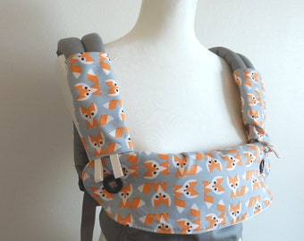 Organic cotton Ergo 360 carrier dribble bib / drool cover ,teething pads  -organic foxy