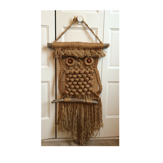 how to make macrame owl wall hanging