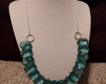 Azure Tear Drop Necklace