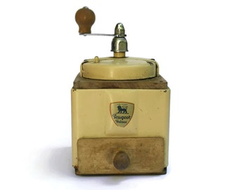 French Vintage Peugeot Coffee Grinder. Industrial Kitchen Decor. Coffee Mill.