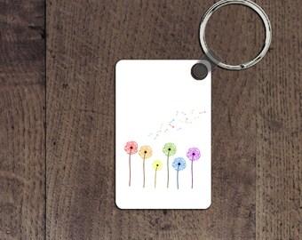 LGBT Dandelion key chain