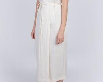 Organic midi dress - poplin