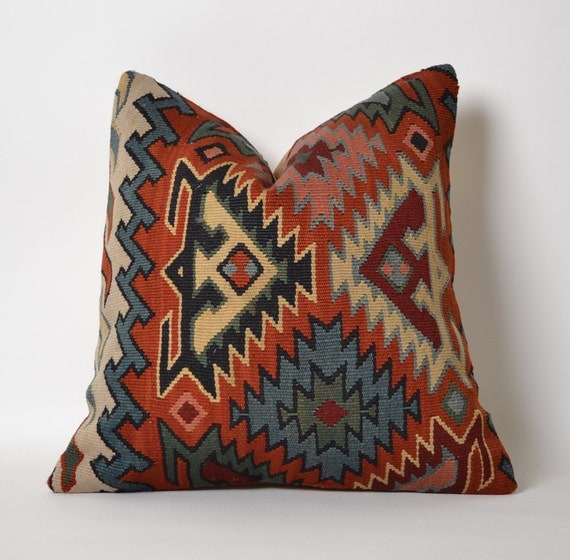 Decorative Pillows Kilim : Vintage Kilim Pillow Cover Decorative Kilim Pillows Hand